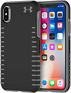 Under Armour UAIPH-011-BGR UA Protect Grip Case for iPhone Xs & iPhone X - Black/Graphite
