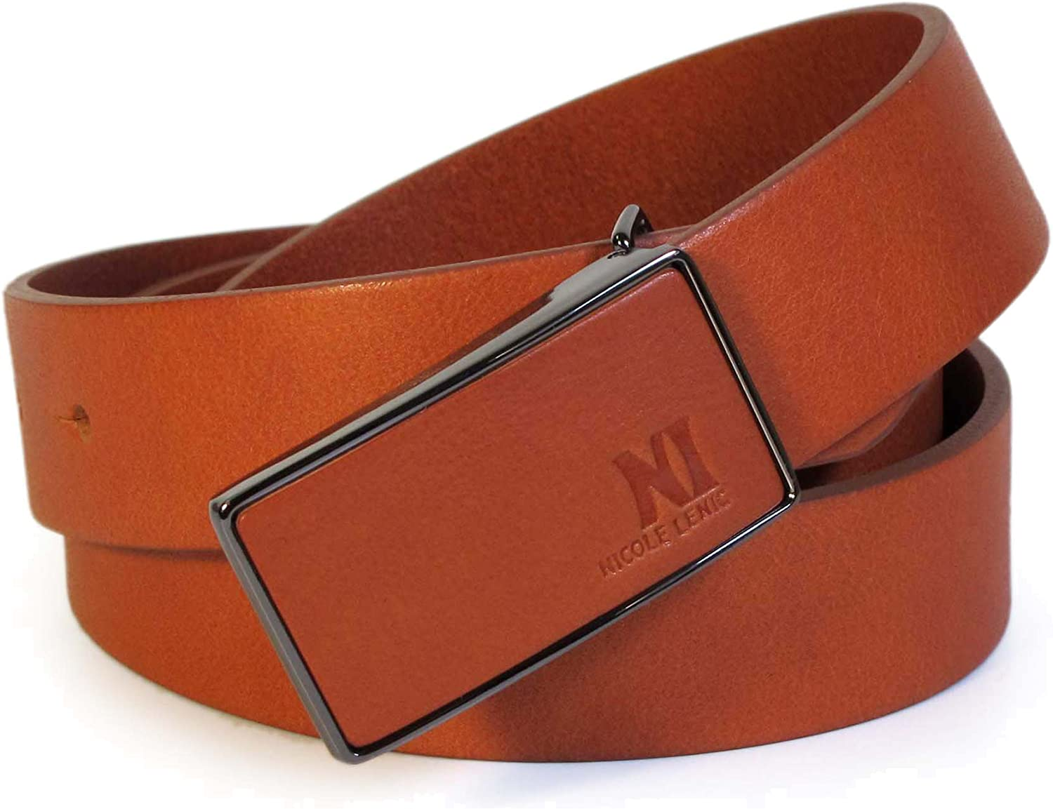 CU0 Mens Real Genuine Leather Belt Black Brown White 1.1 Wide S-L Casual Jeans