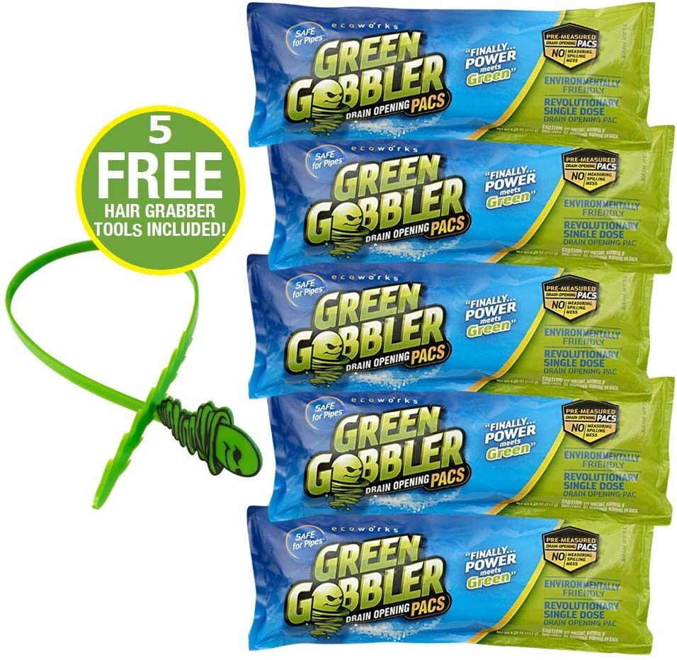 Green Gobbler (5 Pack) Drain Cleaner