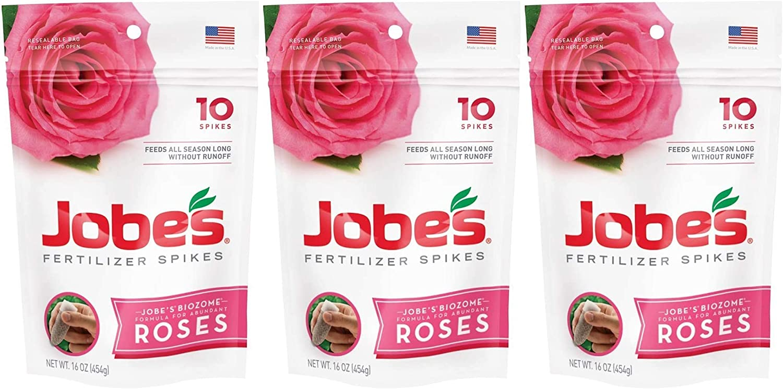 Jobe's Rose Fertilizer Spikes, 10 Spikes 3 Pack