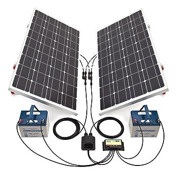 Biard 200W 12/24V White Solar Panel Kit with Adjustable Frame, 20 ...