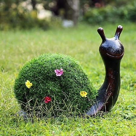 Decoraciones al Aire Libre Césped del césped del jardín del Paisaje Decoración Animal Caracol Que se reúne la decoración de la Resina de la Escultura de césped Artificial para el jardín: Amazon.es: