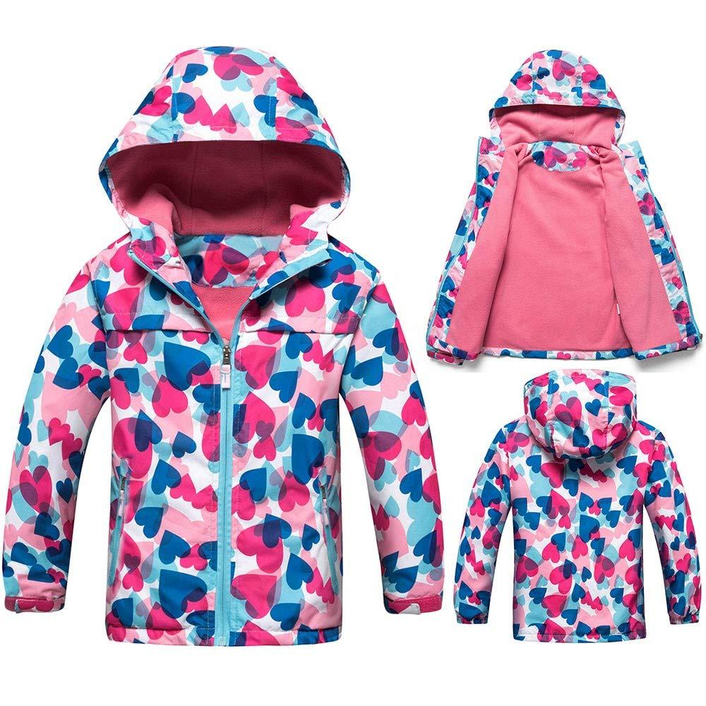Pollyhb Children Coats,Kids Outdoor Waterproof with Hoodie Jacket Keep Warm Coat