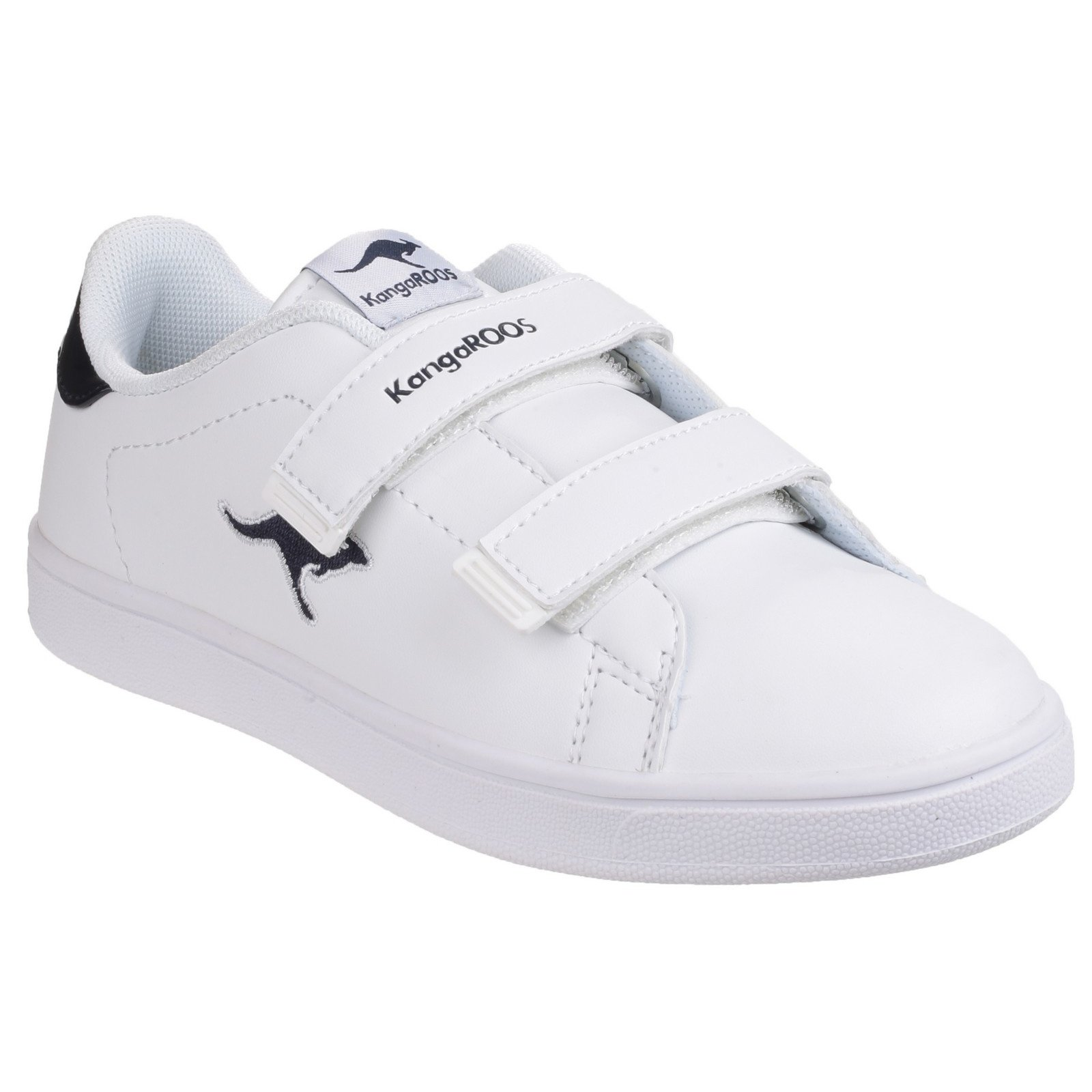 KangaROOS Childrens/Kids K-Classic Touch Fastening Sneakers (3.5 US) (White/Navy)
