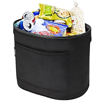 MATCC Car Garbage Can Velcro Trash Bin Waterproof Thick Litter Bag Storage Back