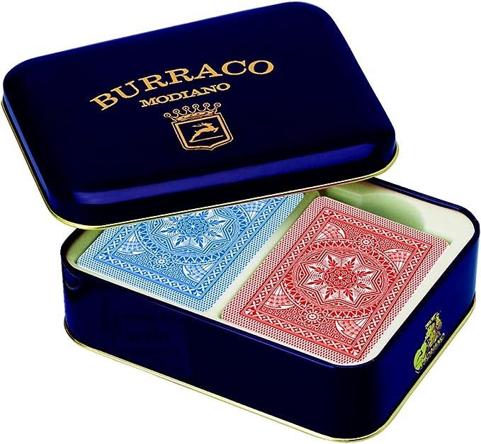 Modiano Burraco - Juego de Cartas en Estuche metálico [Importado de Italia]: Amazon.es: Juguetes y juegos
