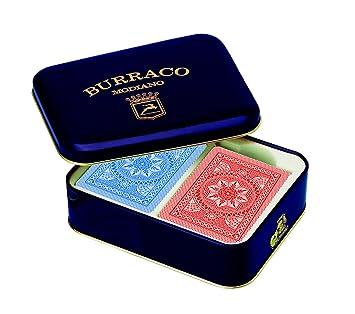 Modiano Burraco - Juego de cartas en estuche metálico ...