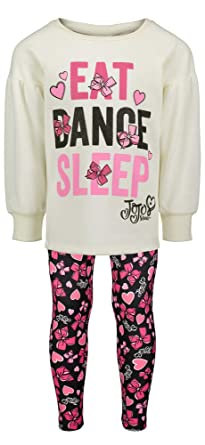 977cd85acc Jojo Siwa (872310WAS) Girls Fleece Long Sleeve Shirt   Leggings Outfit  Clothing Set in