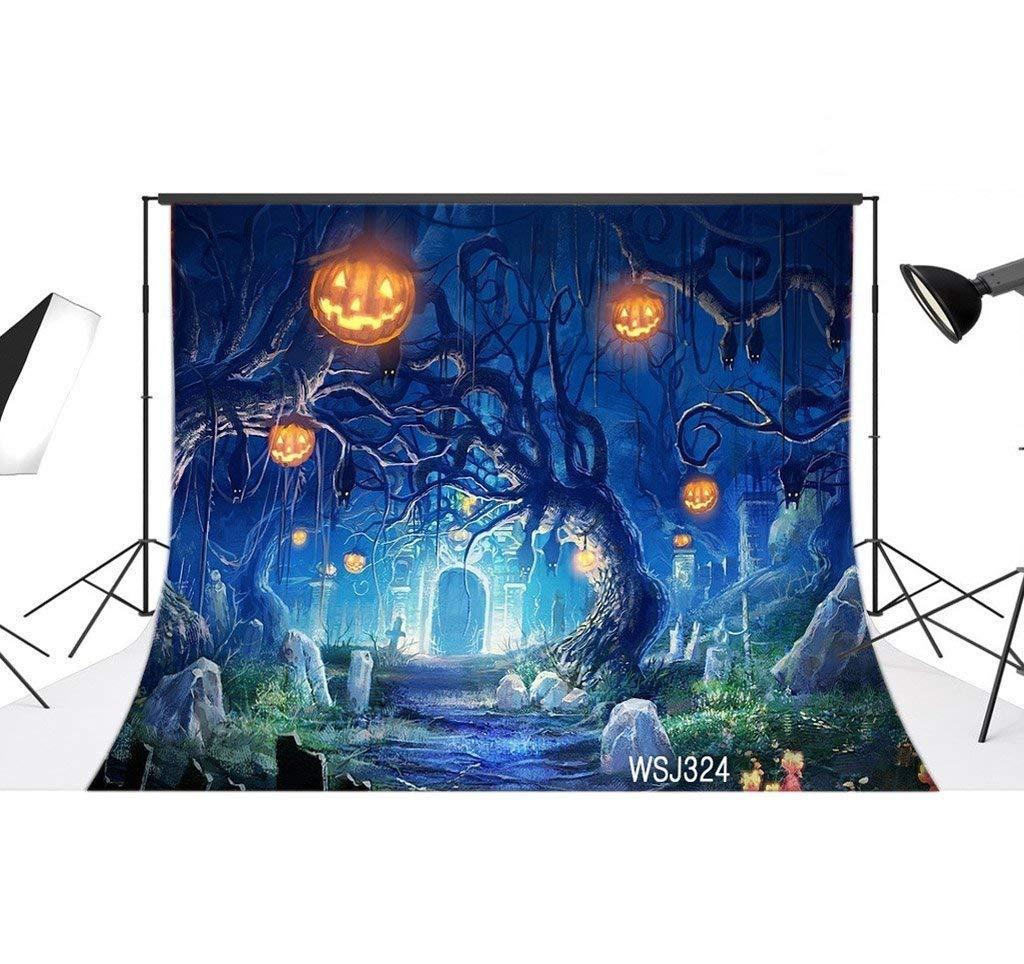 LB 7x5ft Halloween Vinyl Photography Backdrop Customized Photo Background Studio Prop WSJ324 by LB