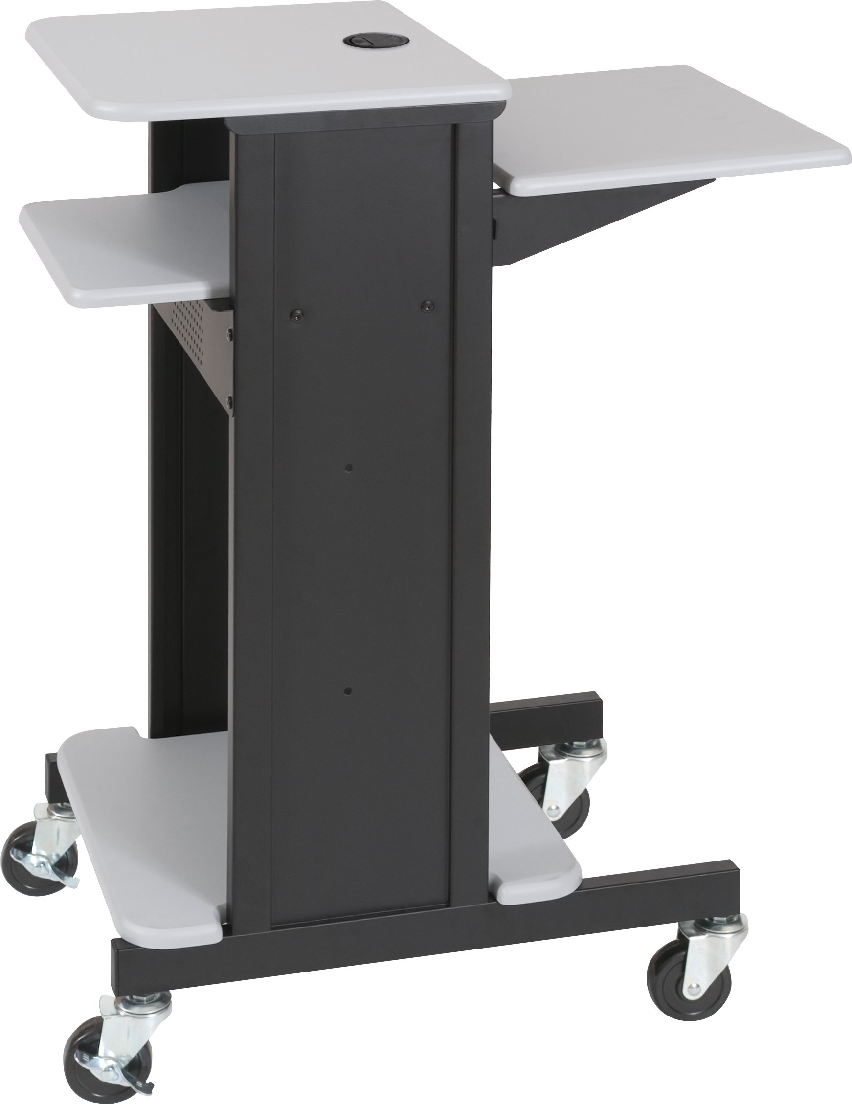 BALT 89759 Adjustable Presentation Cart, 18w x 30d x 40-1/4h, Black/Gray by Balt (Image #5)