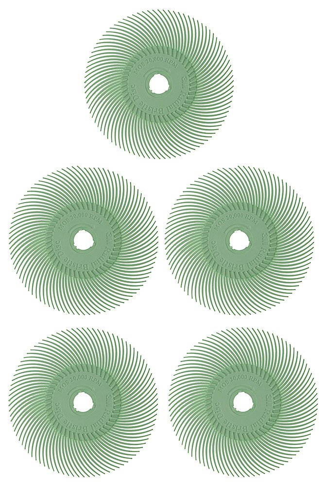 3M Radial Disc 3in, 1 Micron (Light Green) - PK/5 - BRS-595.90 Euro Tool