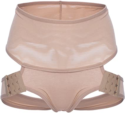 5806eab24 Comfortable Butt Lifter Straps Thong Hip Enhancer Underwear Sucks Pouch in   Beige