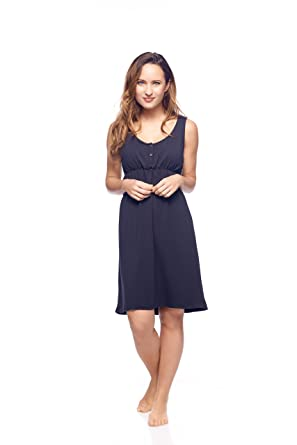 fd3b86ff132 Post Pregnancy Empire Waist Sleeveless Nightgown