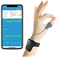 Wellue Wrist Wearable Sleep Monitor - Bluetooth Pulse Meter Health Tracker | Overnight O2 Saturation Level and Heart…