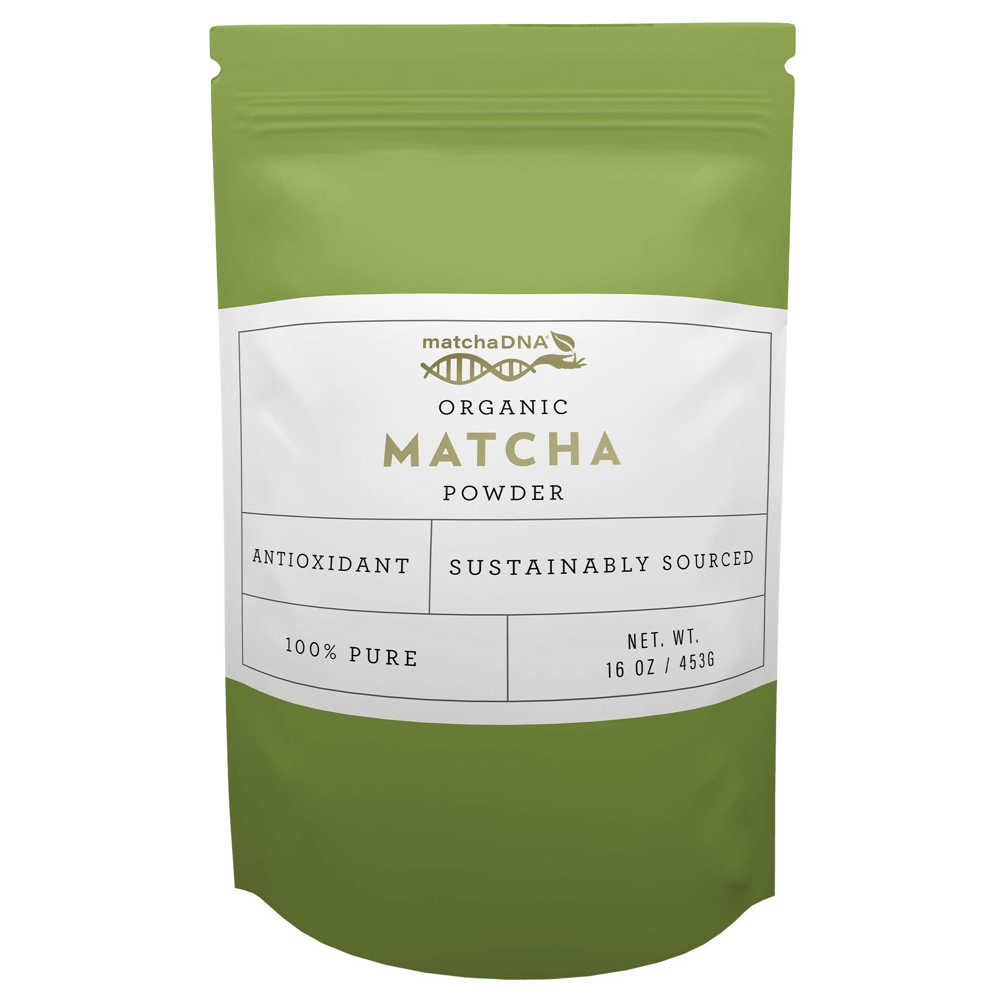 MatchaDNA USDA Organic Matcha Green Tea Powder Culinary Grade Powdered Matcha - High in antioxidants (16 Ounce)