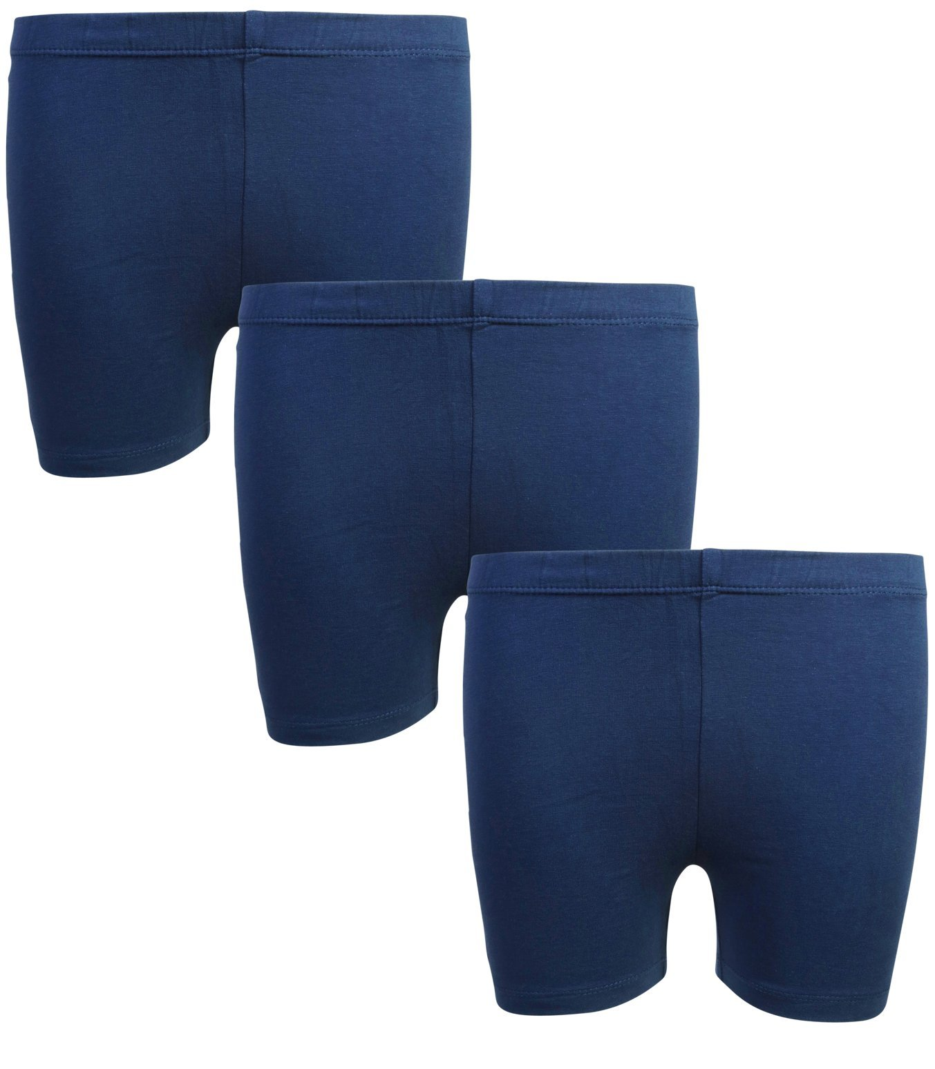 Beverly Hills Polo Club Girls School Uniform Bike Short (3 Pack), Navy, 6/6X'