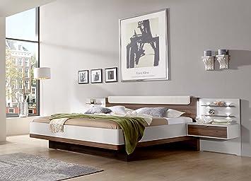 Nachttisch Nussbaum Weis ~ Bett futonbett bettanlage schlafbett doppelbett 180x200 cm
