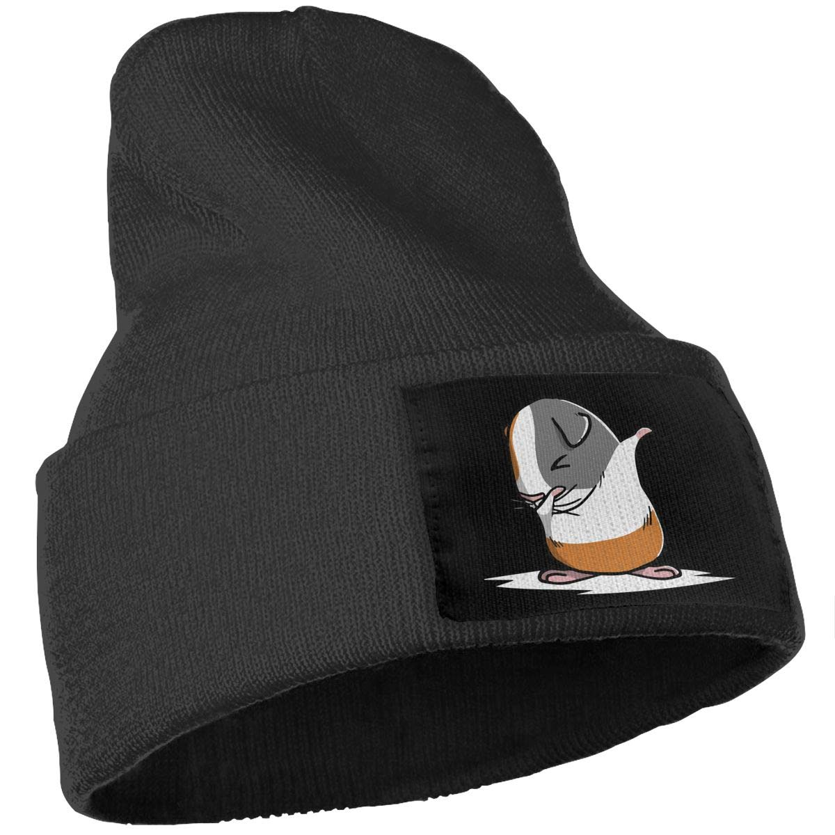 Unisex Dabbing Guinea Pig Outdoor Stretch Knit Beanies Hat Soft Winter Knit Caps