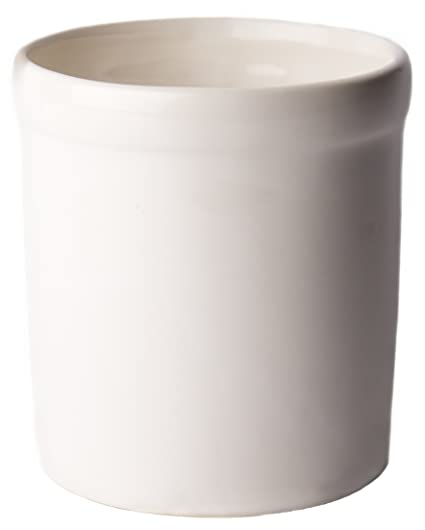 Amazon.com   American Mug Pottery Ceramic Utensil Crock Utensil Holder,  Made In USA, White