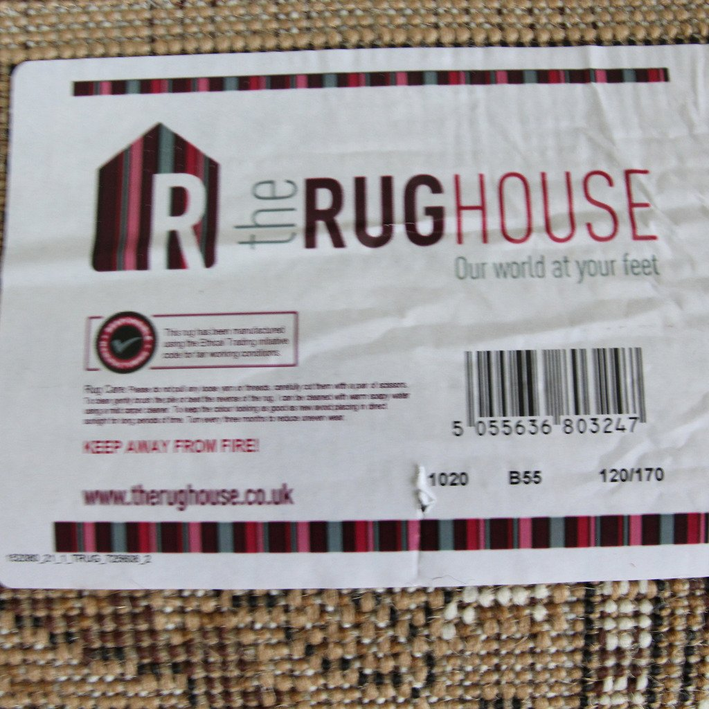 160/cm x 230/cm The Rug House Tappeto Moderno con Trama a Onde Rosso Caldo//Marrone//Arancione Bruciato