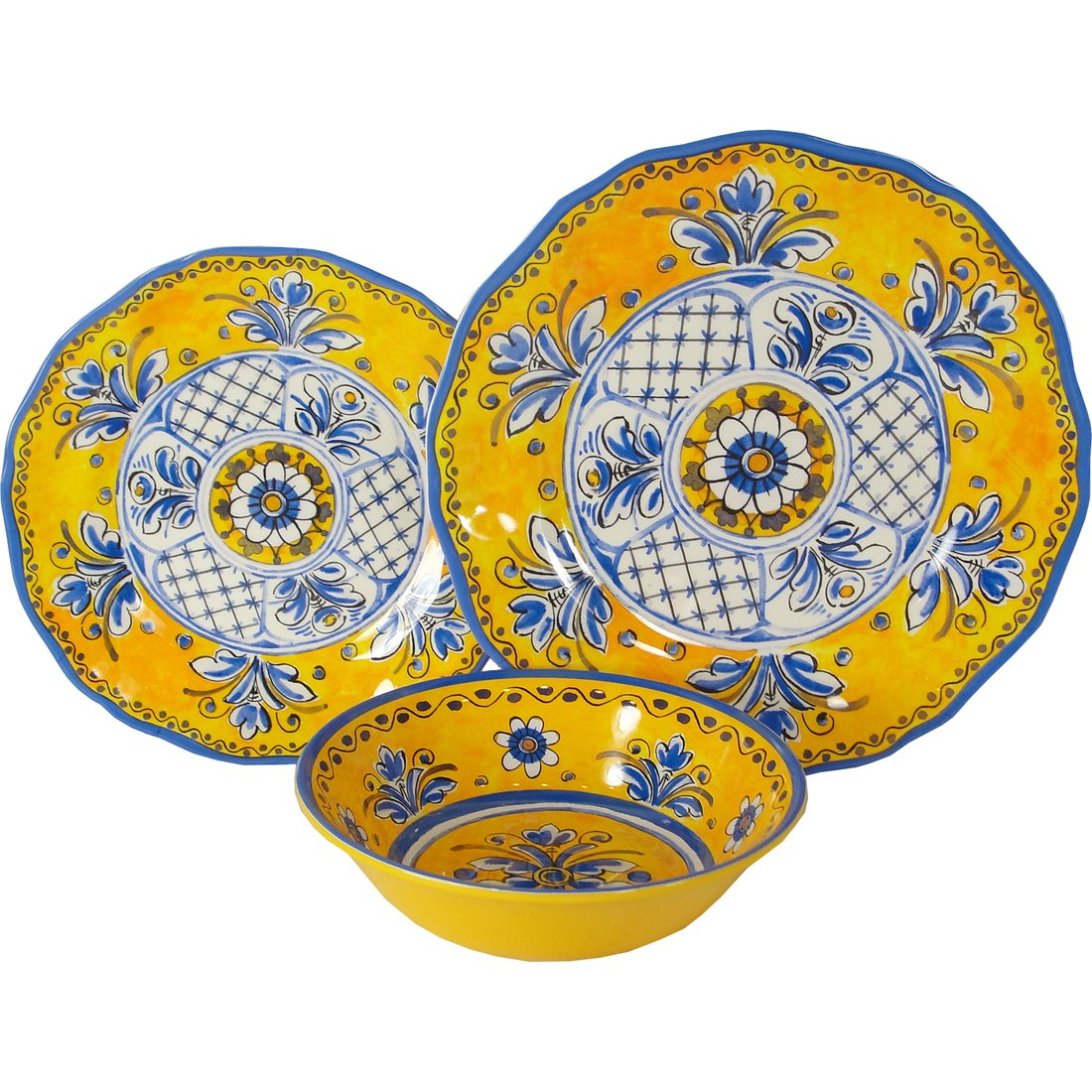 Amazon.com | Benidorm - Le Cadeaux Melamine Dinnerware 4 PC Serving Salad Plates Bowls  sc 1 st  Amazon.com & Amazon.com | Benidorm - Le Cadeaux Melamine Dinnerware 4 PC Serving ...