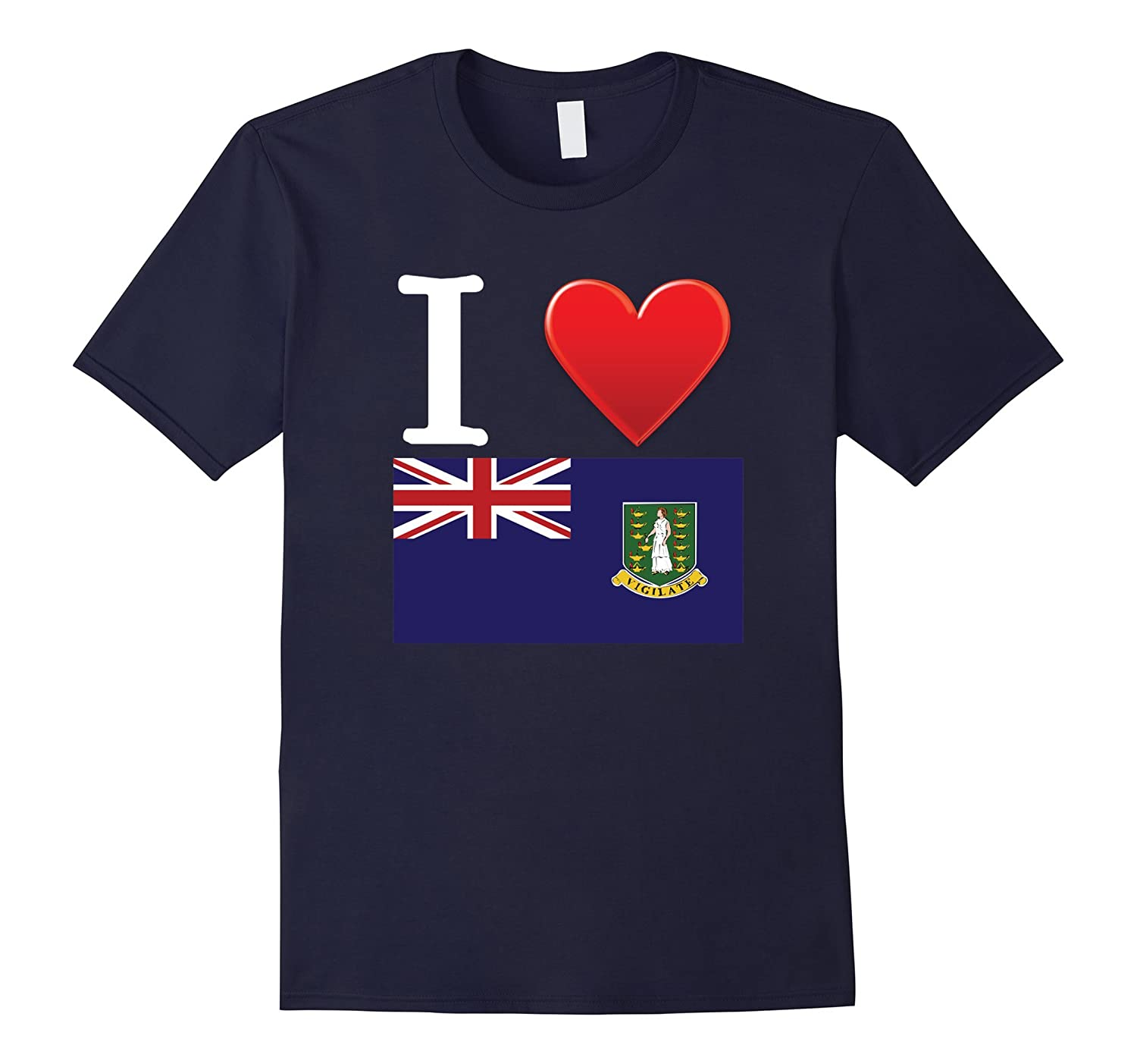 I Heart Love Virgin Islands UK Flag T-Shirt