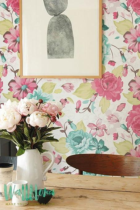 Seamless color flowers pattern wallpaper removable wallpaper seamless color flowers pattern wallpaper removable wallpaper floral wallpaper flower wall sticker mightylinksfo