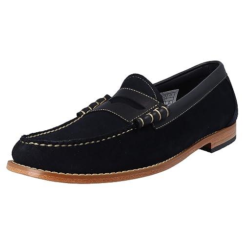 G.H. Bass - Mocasines para Hombre Azul Azul Marino (Navy Suede), Color Azul, Talla 44: Amazon.es: Zapatos y complementos