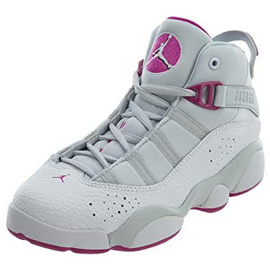 d2f55ee30fdd Nike Jordan 6 Rings GP Girls Fashion-Sneakers 323431-011 2Y - Pure Platinum