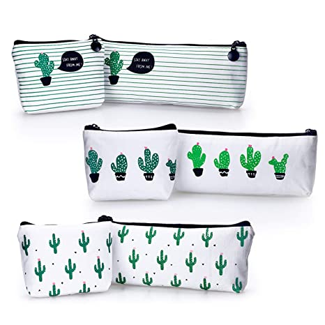 Amazon.com: YOUSHARES 6 Packs Cactus Pencil Case Bundle ...