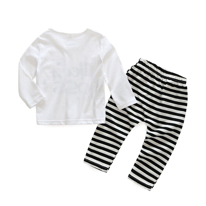 91c64f1396a1 Amazon.com  Kimocat Infant Toddlers Pants Clothing Set 2pcs Long ...
