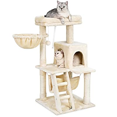 Buy Aokcats Cat Tree 39 Inches Cat Tower For Indoor Cats Multi Level Cat Tree With Scratching Posts Cat Condo For Kittens Cat Climbing Tower With Plush Perch Cat Furniture Stand For