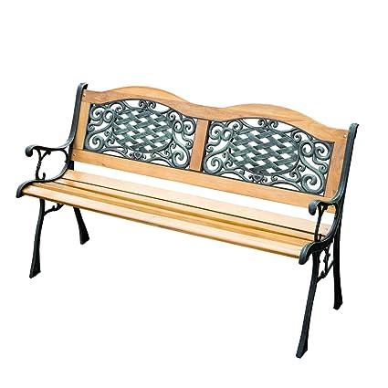 Excellent Amazon Com Patio 50 L Porch Backrest Chair Garden Bench Evergreenethics Interior Chair Design Evergreenethicsorg