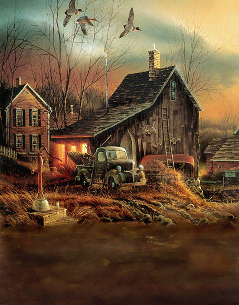 Poor Wooden Houseツリー鳥写真Backdrops写真小道具Studio背景5 x 7ft   B01HXEK104