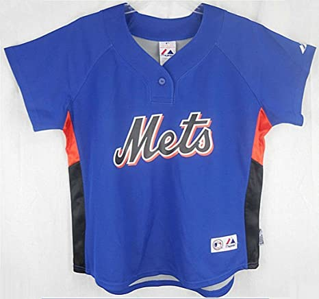 best service d2aab fa2e5 VF New York Mets MLB Majestic Womens Batting Practice Jersey Royal Adult  Sizes