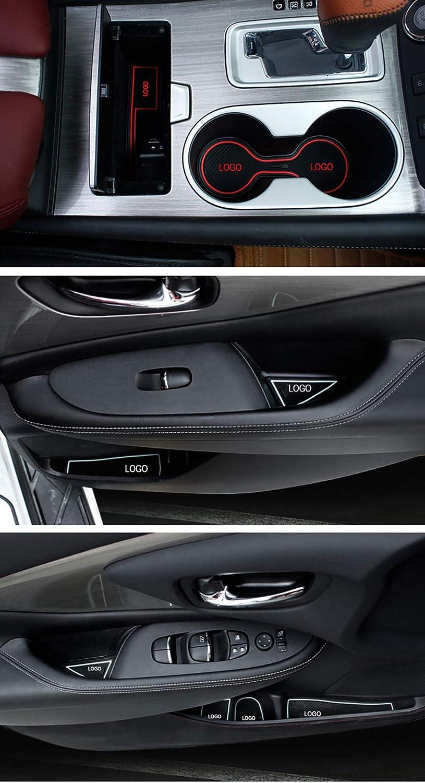 Blu Maiqiken Pad Slot Porta Anti-Polvere Antiscivolo per M azda 5 2013 Mat Car Interior Tappetini Antiscivolo 11 Pezzi//Set