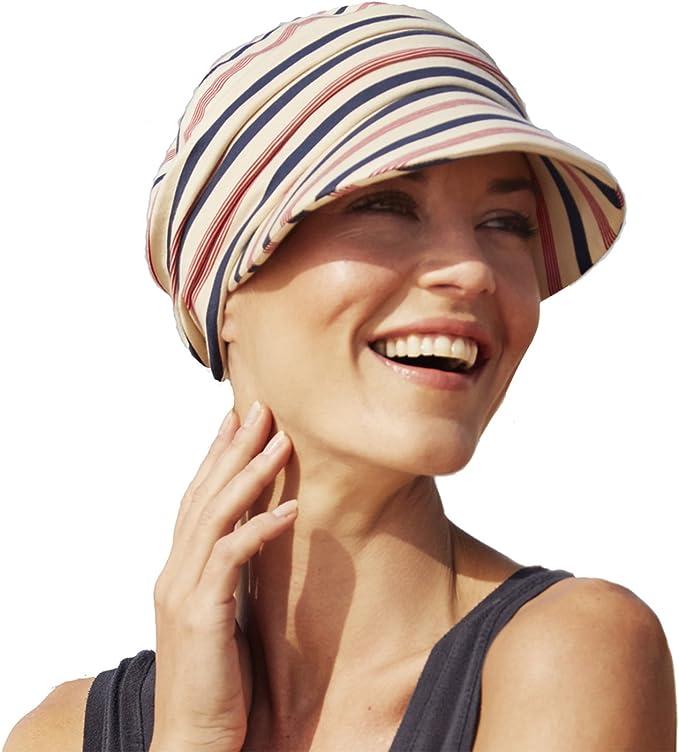 Gorra drapeada de algodón con visera y protección solar índice 50+ ...