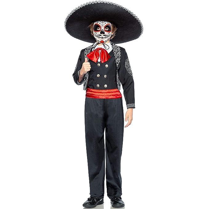 Amazon.com: Disfraz tradicional de Día de los Muertos de Red ...