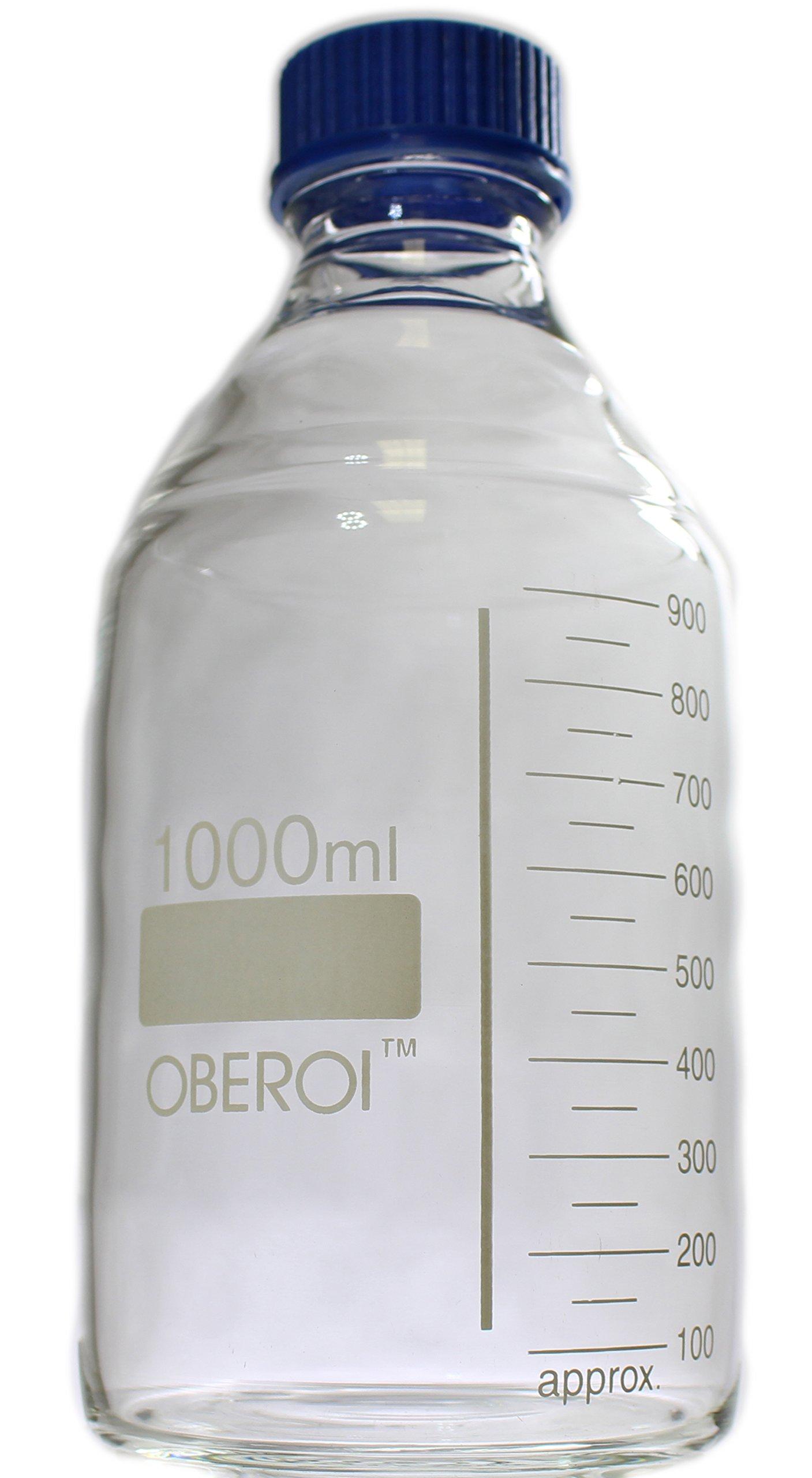 Glass Reagent Bottle, Screw Cap, Narrow Mouth, 1000 mL