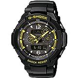 CASIO G-SHOCK Men's Quartz Watch with Black Dial Analogue/Digital Display and Black Resin Strap GW-3500B-1AER