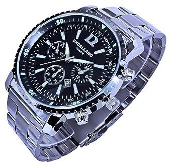 Excellanc Herrenuhr Uhr Armbanduhr Silber Farben Edelstahlarmband ...