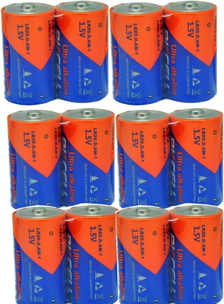12 Pack D Cell 1.5V LR20 Alkaline Battery MX1300 MN 1300