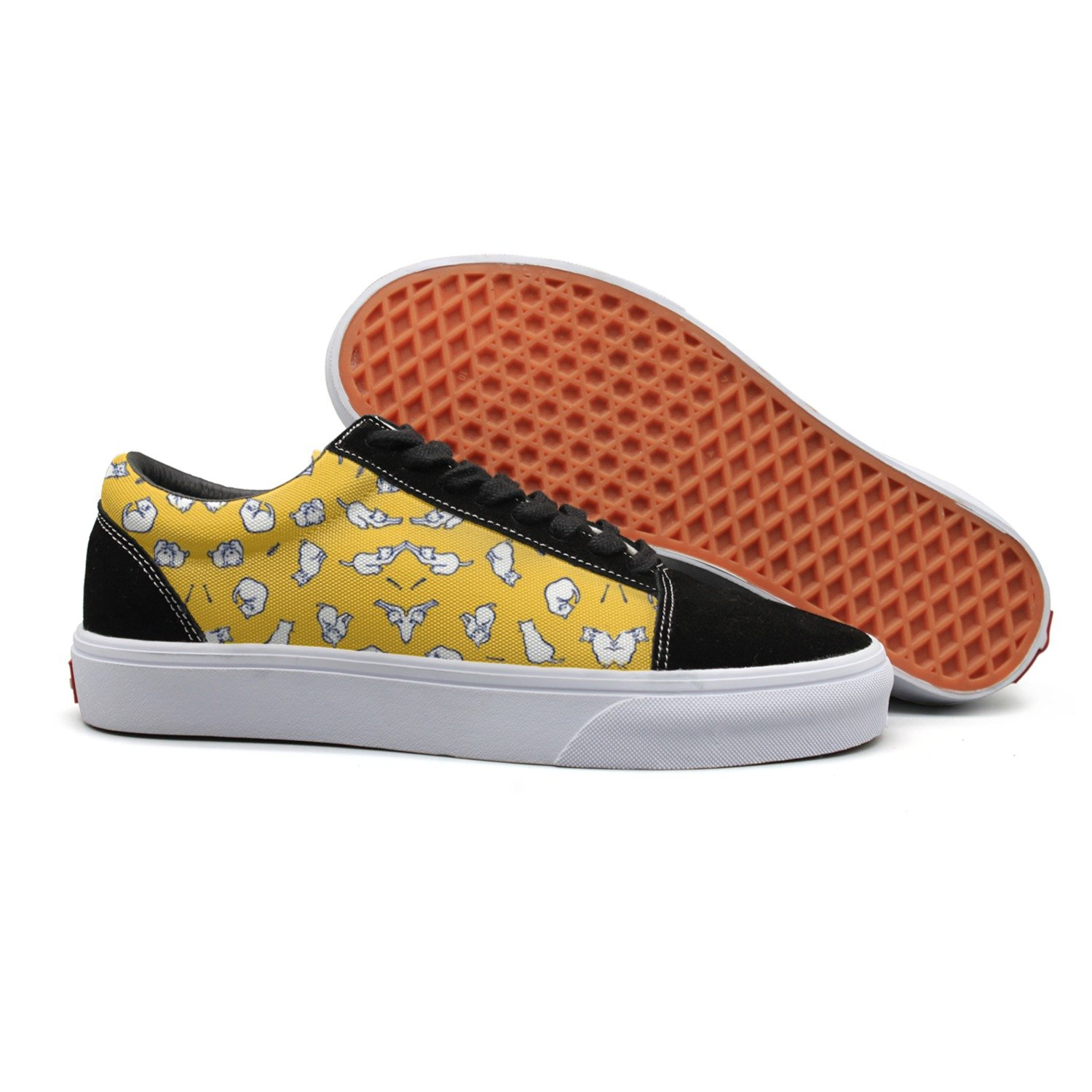 Armsttm Women Skate Shoes Cat With Fish Bone Classic Suede Sneaker