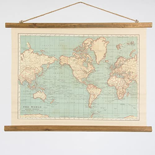 Vintage map wall hanging canvas print world map burlap tapestry large vintage style hanging wall map canvas print great for the home or a gift for gumiabroncs Images