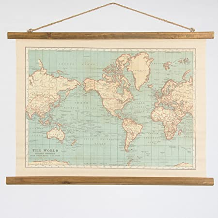 Large vintage style hanging wall map canvas print great for the home large vintage style hanging wall map canvas print great for the home or a gift for gumiabroncs Image collections