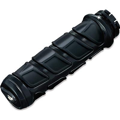 "Kuryakyn 6373 Premium Kinetic Handlebar Grips: Universal Fit for Motorcycles with 1"" Diameter Bars, Gloss Black, 1 Pair: Automotive"
