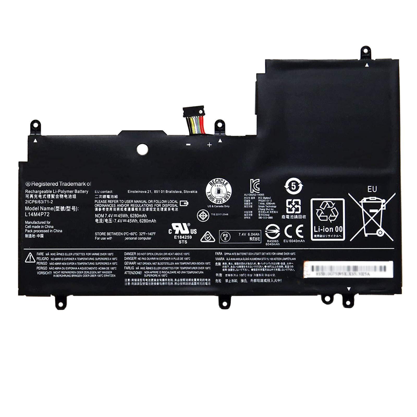 Bateria L14M4P72 7.4V 45Wh/6280mAh 4-Cells Lenovo Yoga 3-147