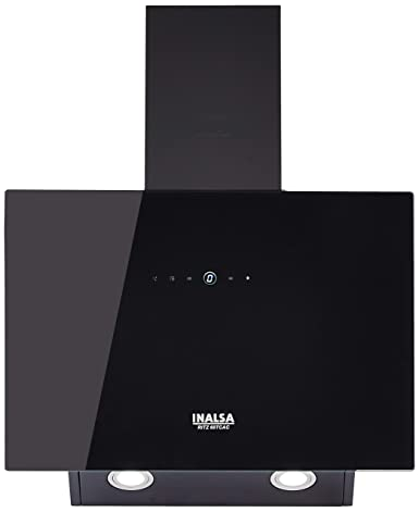 Inalsa 60 Cm, 1100 m³/hr Kitchen Chimney Ritz 60 TCAC With High Suction Aluminum Cassette Filter, Auto Clean & Touch Control (Black)