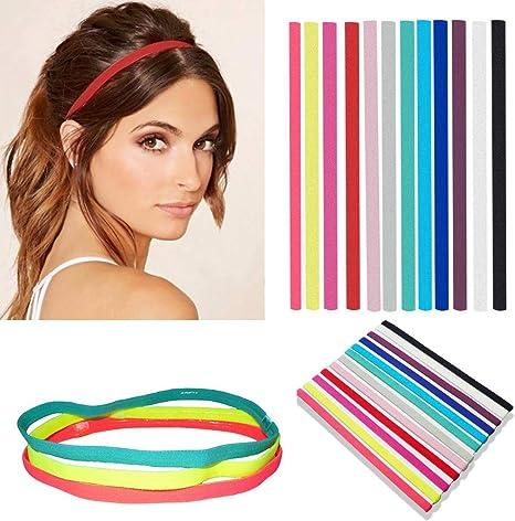 Zopfgummi Haargummi Yoga Sport Stirnband, Haarreif Damen Haarband