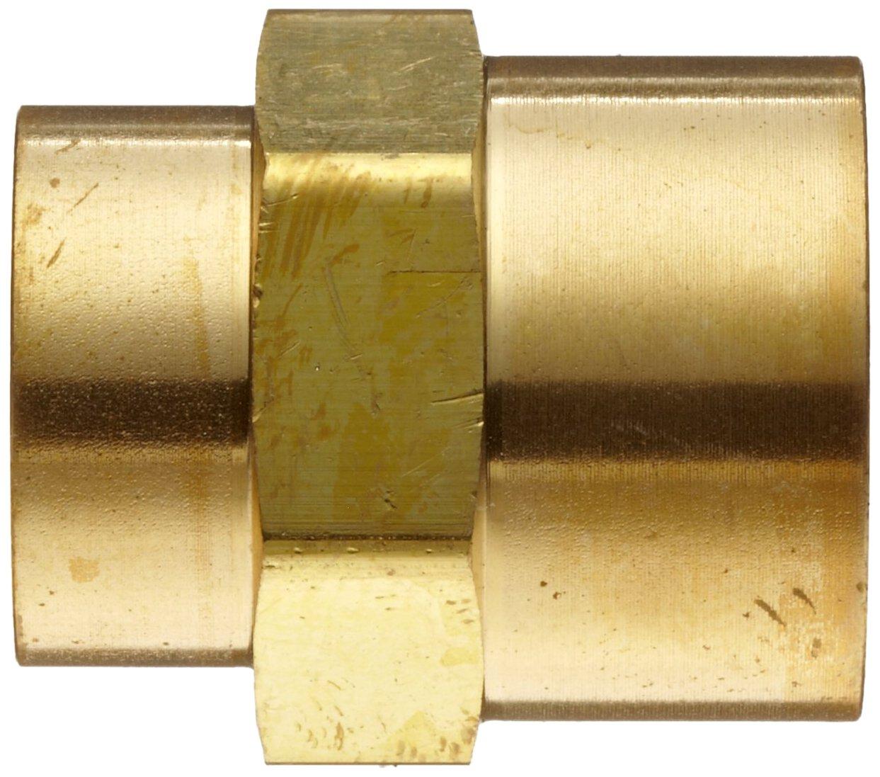 1//4 NPT Female X 1//8 NPT Female Hex Coupling Parker Brass Pipe Fitting